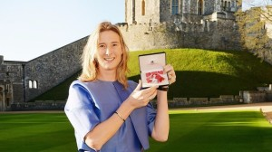 Olympic rower Sarah Winckless was awarded an MBE during the ceremony